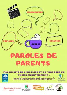 l'affiche parole de parents