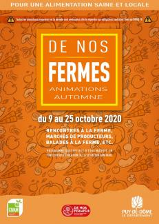 l'affiche orange des animations